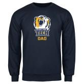 Navy Fleece Crew-Dad