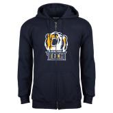 Navy Fleece Full Zip Hoodie-New York Tech Bear Head
