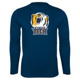 Performance Navy Longsleeve Shirt-New York Tech Bear Head