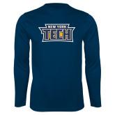 Performance Navy Longsleeve Shirt-New York Tech