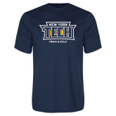 Performance Navy Tee-Track and Field New York Tech