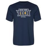 Performance Navy Tee-Softball New York Tech