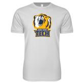 Next Level SoftStyle White T Shirt-New York Tech Bear Head