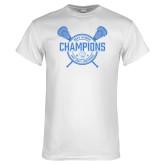 White T Shirt-2018 Mens Lacrosse Champions