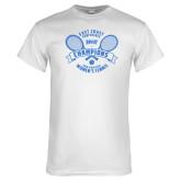 White T Shirt-2018 NYIT ECC Tennis Champions