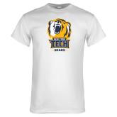 White T Shirt-New York Tech Bear Head Bears