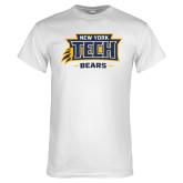 White T Shirt-New York Tech Claw Bears
