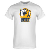 White T Shirt-NYIT Bear Head