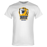 White T Shirt-NYIT Bear Head Bears