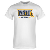 White T Shirt-NYIT Claw Bears