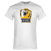 White T Shirt-Tech Bear Head