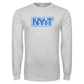 White Long Sleeve T Shirt-NYIT