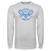 White Long Sleeve T Shirt-2018 NYIT ECC Tennis Champions