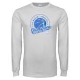 White Long Sleeve T Shirt-2019 ECC Womens Basketball Champions