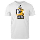 Adidas White Logo T Shirt-New York Tech Bear Head