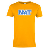 Ladies Gold T Shirt-NYIT