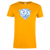 Ladies Gold T Shirt-Mascot