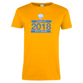 Ladies Gold T Shirt-Class Of Design