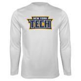 Performance White Longsleeve Shirt-New York Tech