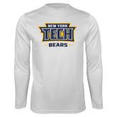Performance White Longsleeve Shirt-New York Tech Bears