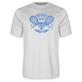 Performance White Tee-2018 NYIT ECC Tennis Champions