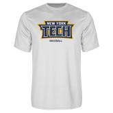 Performance White Tee-Baseball New York Tech