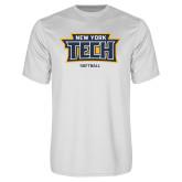Performance White Tee-Softball New York Tech