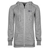 ENZA Ladies Grey/Black Marled Full Zip Hoodie-New York Tech