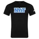 Adidas Black Logo T Shirt-NYIT