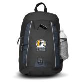Impulse Black Backpack-New York Tech Bear Head
