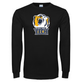 Black Long Sleeve T Shirt-New York Tech Bear Head