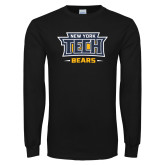 Black Long Sleeve T Shirt-New York Tech Bears