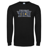 Black Long Sleeve T Shirt-New York Tech Distressed