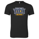 Next Level Vintage Black Tri Blend Crew-New York Tech Bears