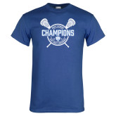 Royal T Shirt-2018 Mens Lacrosse Champions