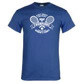 Royal T Shirt-2018 NYIT ECC Tennis Champions