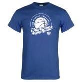 Royal T Shirt-2019 ECC Womens Basketball Champions
