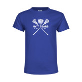Youth Royal T Shirt-Lacrosse Design