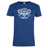 Ladies Royal T Shirt-2018 NYIT ECC Tennis Champions