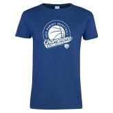 Ladies Royal T Shirt-2019 ECC Womens Basketball Champions