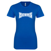 Next Level Ladies SoftStyle Junior Fitted Royal Tee-Bears