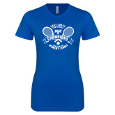 Next Level Ladies SoftStyle Junior Fitted Royal Tee-2018 NYIT ECC Tennis Champions