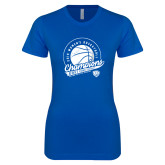 Next Level Ladies SoftStyle Junior Fitted Royal Tee-2019 ECC Womens Basketball Champions