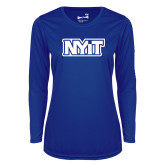 Ladies Syntrel Performance Royal Longsleeve Shirt-NYIT