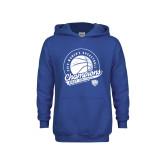 Youth Royal Fleece Hoodie-2019 ECC Womens Basketball Champions