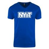 Next Level V Neck Royal T Shirt-NYIT