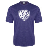 Performance Royal Heather Contender Tee-Mascot