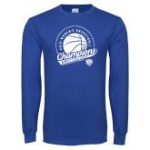Royal Long Sleeve T Shirt-2019 ECC Womens Basketball Champions
