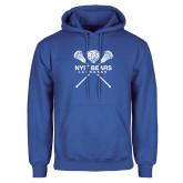 Royal Fleece Hoodie-Lacrosse Design