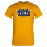 Gold T Shirt-Track and Field New York Tech